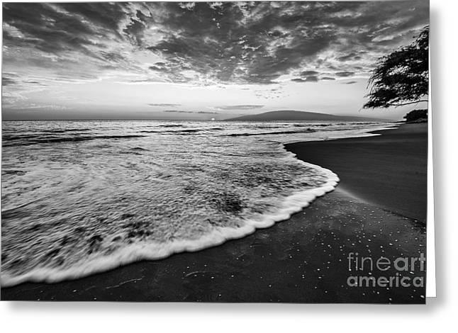 Lahaina Greeting Cards - Sunset Waves on Lahaina Greeting Card by Jamie Pham