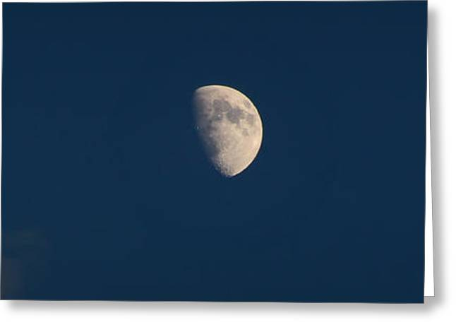 Prescott Greeting Cards - Sunset Waxing gibbous Greeting Card by Aaron Burrows
