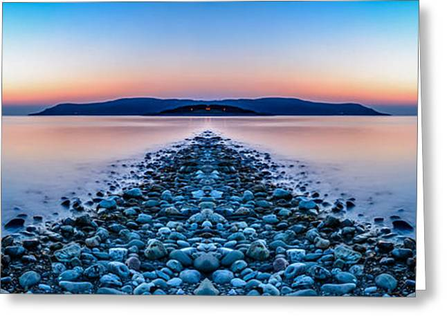 Stones Digital Art Greeting Cards - Sunset Way Greeting Card by Adrian Evans