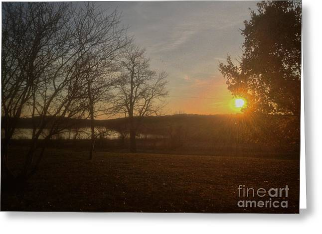 Mendon Greeting Cards - Sunset Greeting Card by William Norton