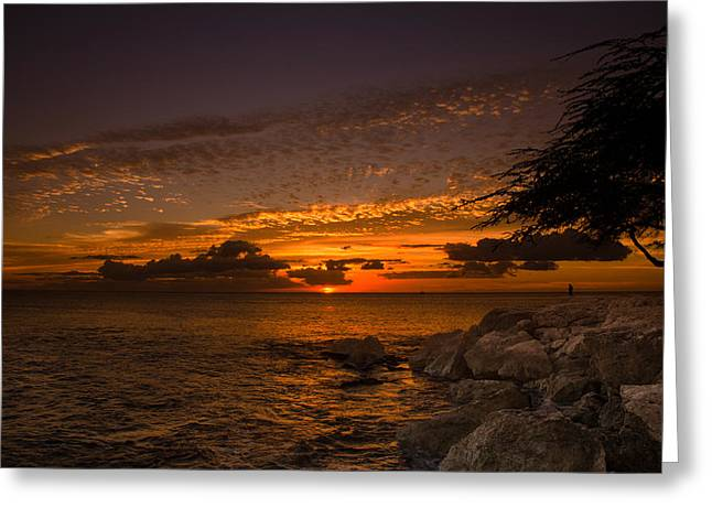 Lahaina Greeting Cards - Sunset with the fisherman Greeting Card by Tin Lung Chao