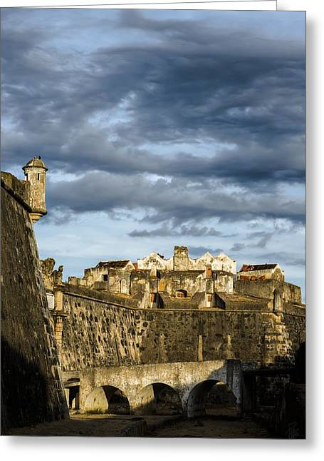 Hdr Look Digital Greeting Cards - SunsetAtTheFort Greeting Card by Francesco Perratone