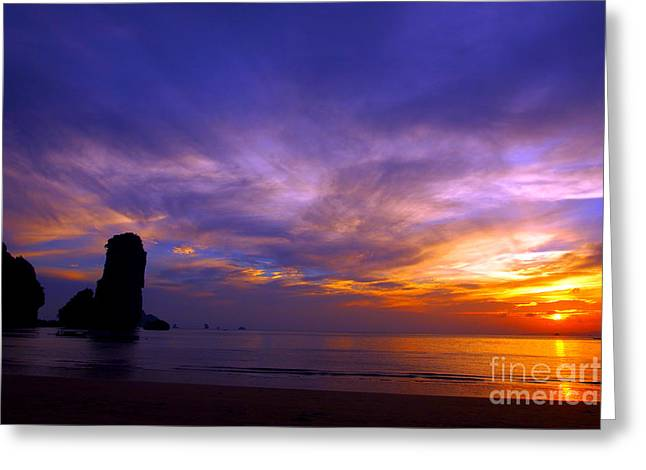 Justin Woodhouse Greeting Cards - Sunsets and Beaches Greeting Card by Justin Woodhouse