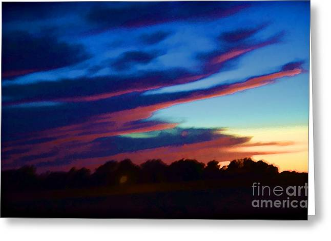 Overcast Day Greeting Cards - Sunsets Fleeting Daylight Greeting Card by Luther   Fine Art