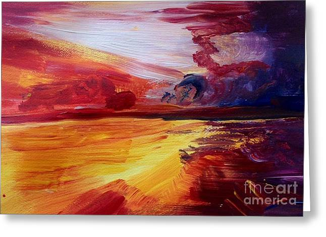Michelle Greeting Cards - Sunsets on the sea  Greeting Card by Michelle Hynes