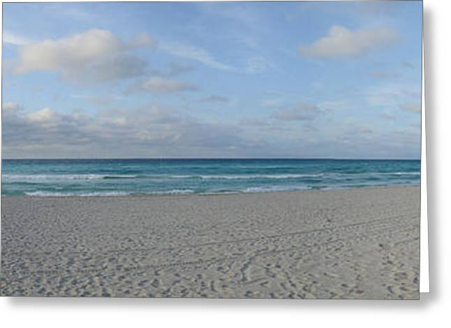 Matanzas Greeting Cards - Sunshades On The Beach, Varadero Beach Greeting Card by Panoramic Images