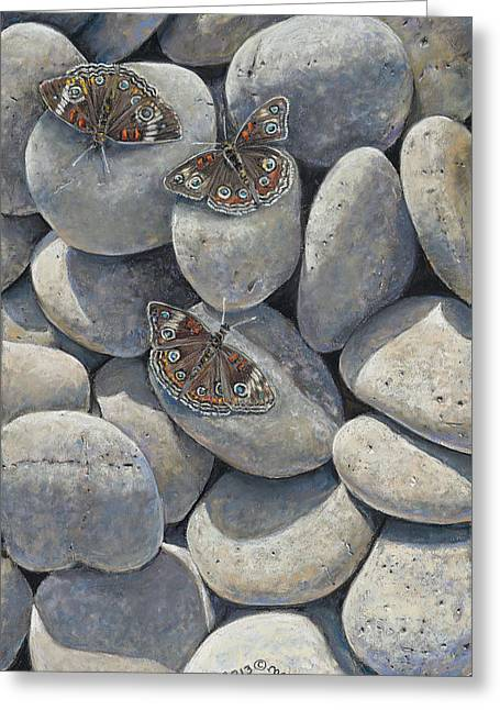 Birdseye Greeting Cards - Sunshine and Butterflies Greeting Card by Nick Payne