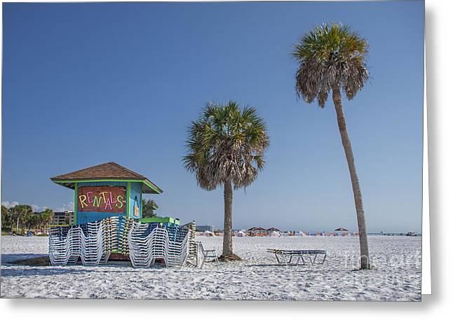 Siesta Key Greeting Cards - Sunshine Beach Greeting Card by Evelina Kremsdorf
