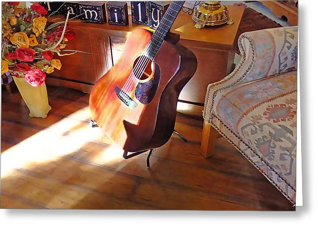 Sunshine Guitar Greeting Card by Terril Heilman