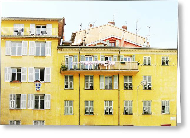 Southern France Greeting Cards - Sunshine House Greeting Card by Lupen  Grainne