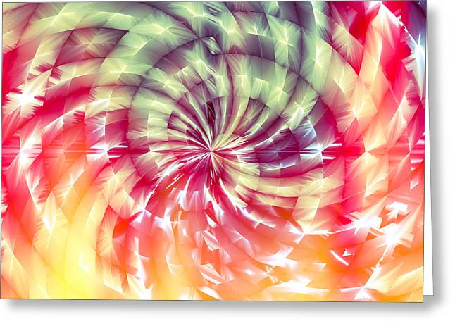 Abstractions Greeting Cards - Sunshine Lollipop Greeting Card by Carolyn Marshall