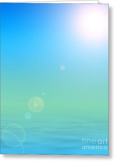 Sun Tanning Greeting Cards - Sunshine Paradise Greeting Card by Antony McAulay
