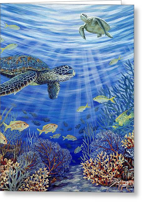 Yellowtail Greeting Cards - Sunshine Reef Greeting Card by Danielle  Perry