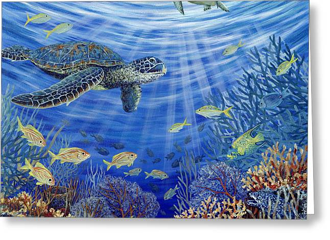 Fish Print Greeting Cards - Sunshine Reef Greeting Card by Danielle  Perry