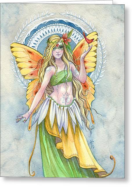 Bellydancer Greeting Cards - Sunshine Greeting Card by Sara Burrier