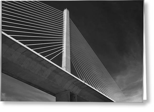 Recently Sold -  - Bay Bridge Greeting Cards - Sunshine skyway bridge Greeting Card by Robert Winch
