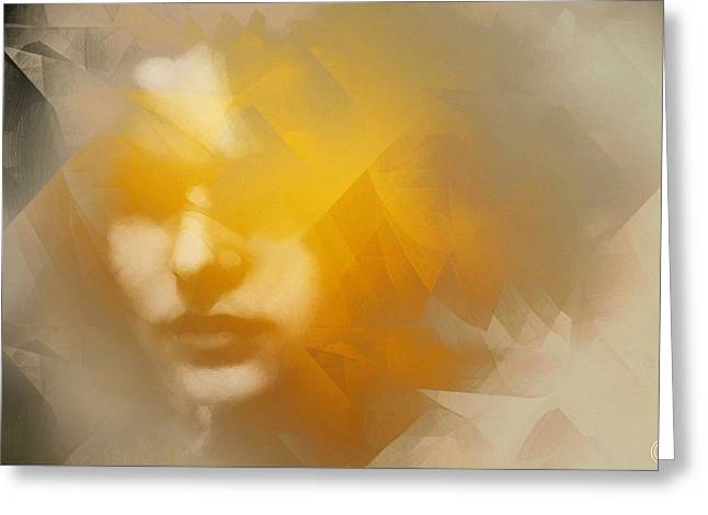 Beige Abstract Greeting Cards - Sunstruck Greeting Card by Gun Legler