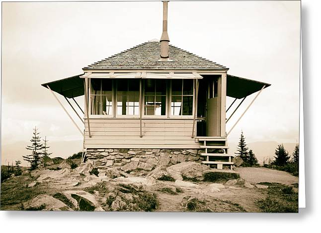 Pierce County Greeting Cards - Suntop Lookout - Washington 1989 Greeting Card by Mountain Dreams