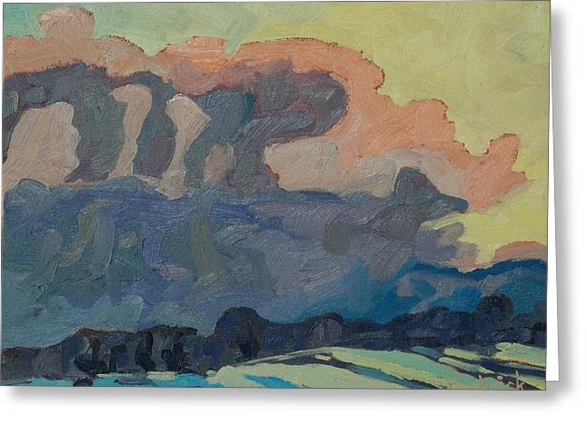 Realism Greeting Cards - Sunup on a Snowsquall Greeting Card by Phil Chadwick