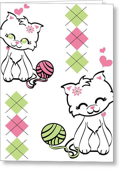 Kitteh Greeting Cards - Sup Cat Greeting Card by Kelly Werner