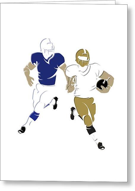 Super 44 Colts Vs Saints Greeting Card by Joe Hamilton