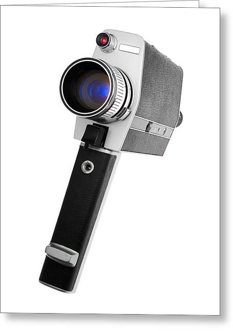 Hand-held Greeting Cards - Super 8 Camera Greeting Card by Jim Hughes