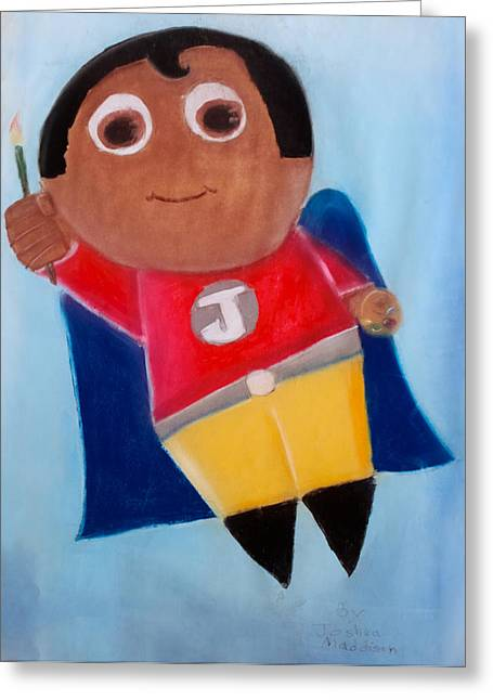 Heroes Pastels Greeting Cards - Super Artist Greeting Card by Joshua Maddison