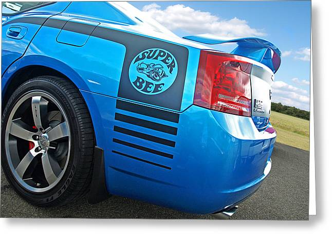 Super Bee Greeting Cards - Super Bee Dodge Charger SRT8 Greeting Card by Gill Billington