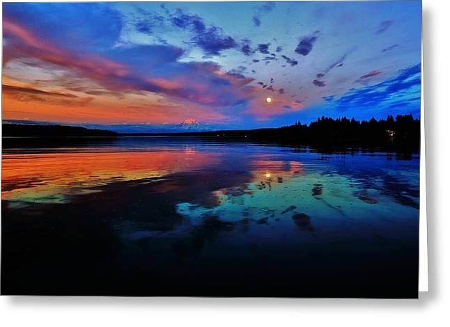 Moonrise Greeting Cards - Super Greeting Card by Benjamin Yeager