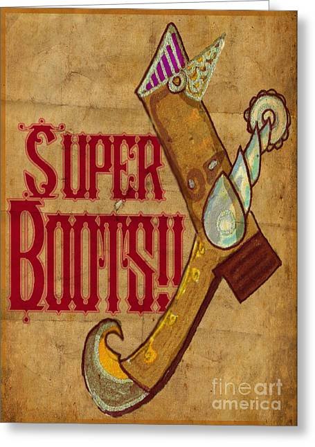 Boots Digital Art Greeting Cards - Super Boots Greeting Card by Pedro Caignet