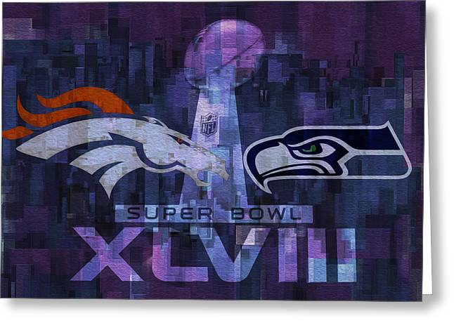 Offense Digital Art Greeting Cards - Super Bowl X L V I I I Greeting Card by Jack Zulli