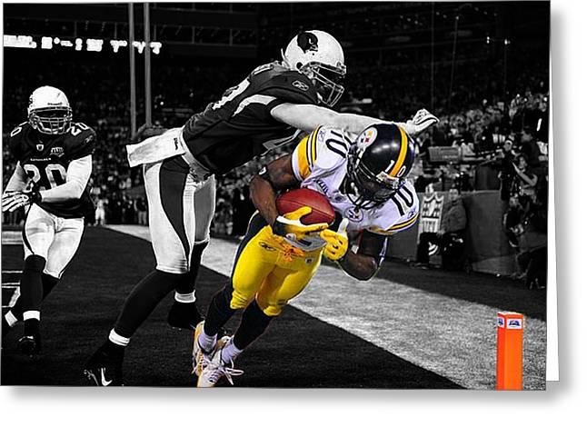 Xliii Greeting Cards - Super Bowl XLIII Greeting Card by Brian Reaves