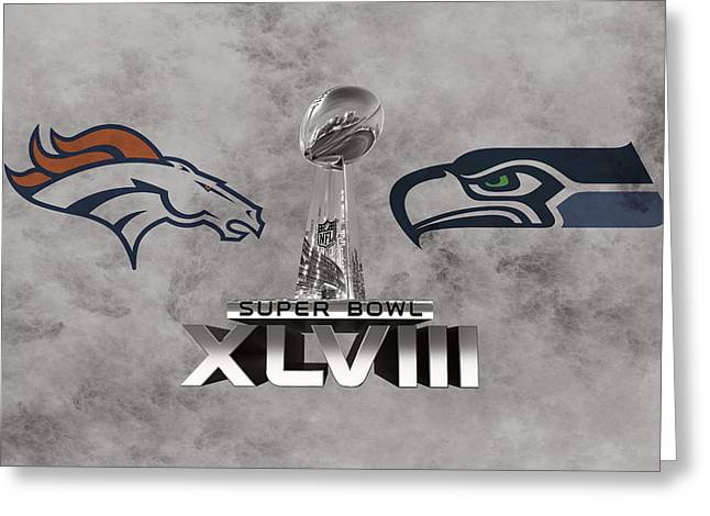 Super Bowl Xlvlll Greeting Card by Joe Hamilton