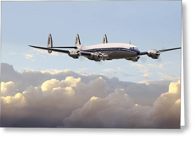 Airliner Greeting Cards - Super Constellation - End of an Era Greeting Card by Pat Speirs