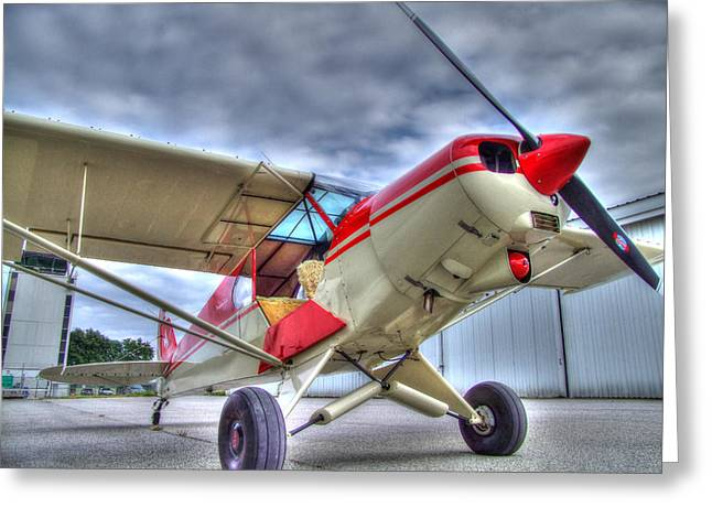 Tail-draggers Greeting Cards - Super Cub on the Ramp Greeting Card by Phil Rispin