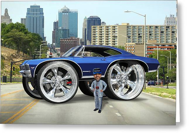 67 Greeting Cards - Super Duper Big Wheels Greeting Card by Mike McGlothlen