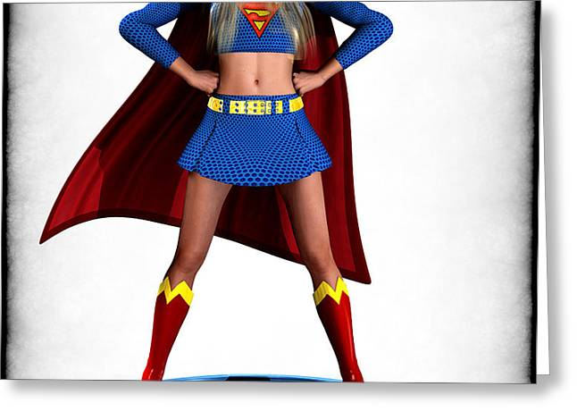 Super Girl v2 Greeting Card by Frederico Borges