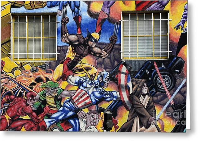 Fun New Art Greeting Cards - Super Heroes Albuquerque New Mexico Greeting Card by Bob Christopher
