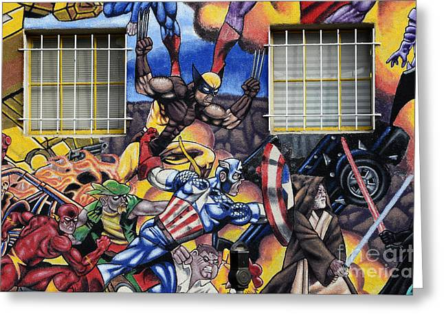 Super Heroes Albuquerque New Mexico Greeting Card by Bob Christopher