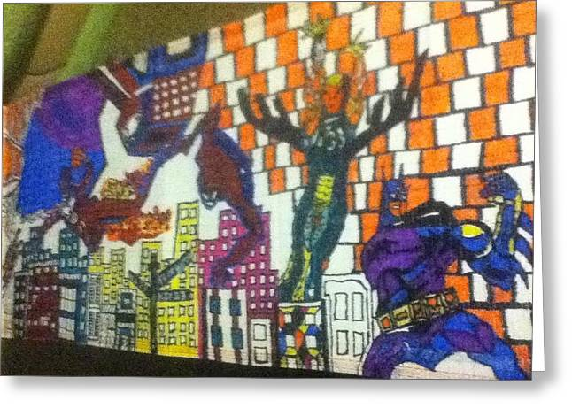 Super heroes Greeting Card by MJ  MUSEUM