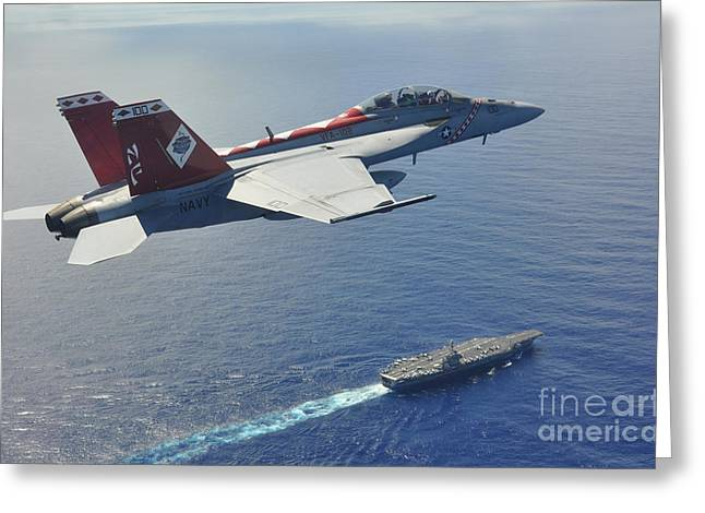 Theater Of The Sea Greeting Cards - Super Hornet  Greeting Card by Paul Fearn