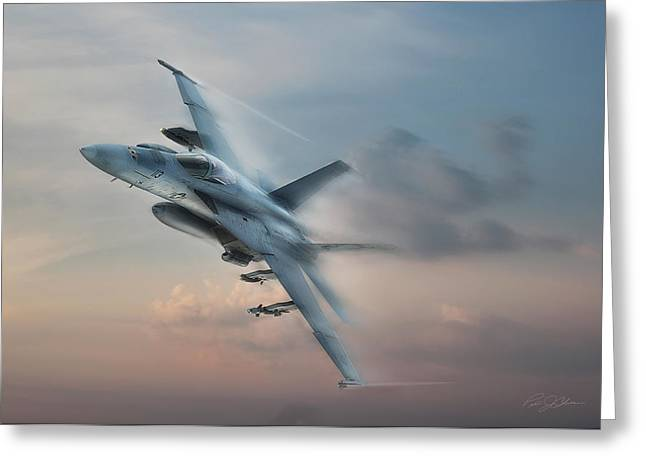 Jet Airplane Greeting Cards - Super Hornet Greeting Card by Peter Chilelli