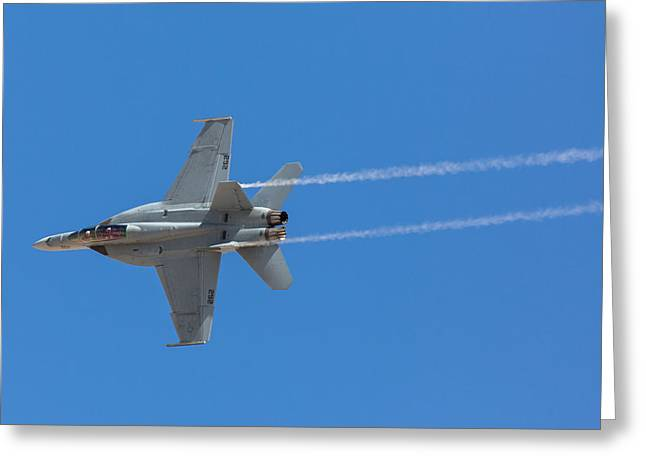 F-18 Greeting Cards - Super Hornet Trails Greeting Card by John Daly