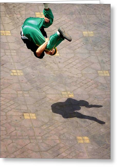 Break Dance Greeting Cards - Super jumper.. Greeting Card by A Rey