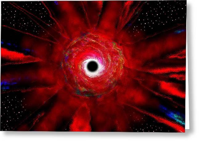 Super Massive Black Hole Greeting Card by David Lee Thompson