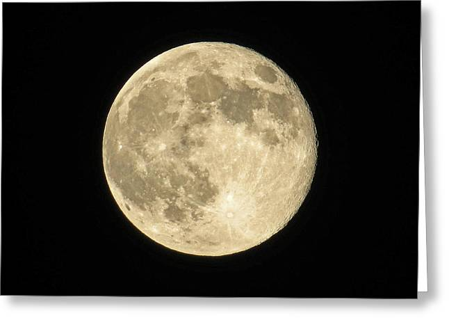 Selenic Greeting Cards - Super Moon 6-23-13 Greeting Card by Dawn Key