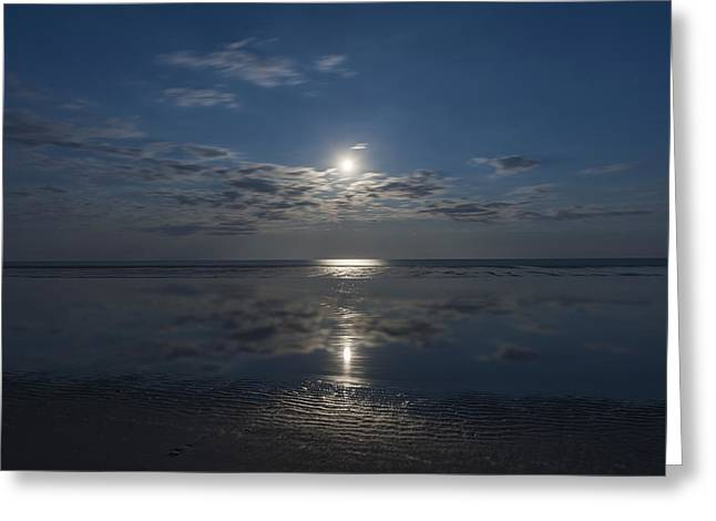 Fun New Art Greeting Cards - Super Moon Burst Sea Isle City NJ  Greeting Card by Terry DeLuco