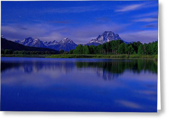 Grand Teton Greeting Cards - Super Moon Greeting Card by Chad Dutson