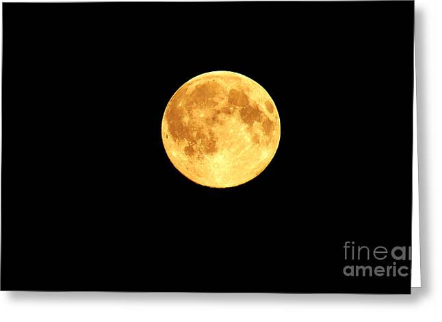 Man In The Moon Greeting Cards - Super Moon Greeting Card by Charity Hommel