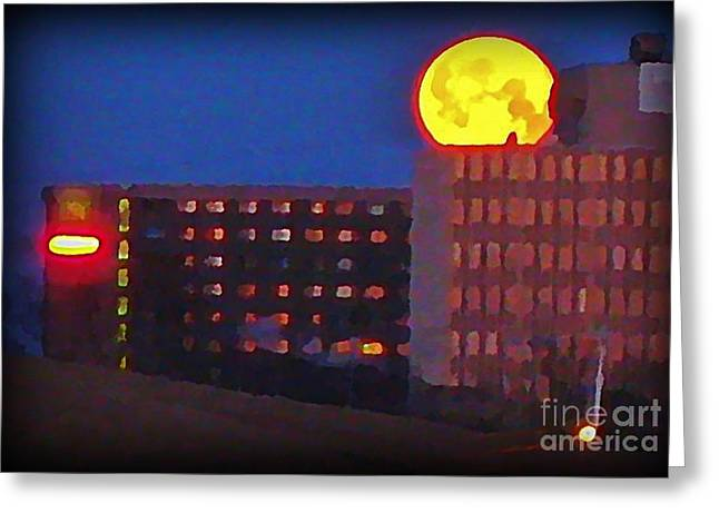 Art In Halifax Greeting Cards - Super Moon in Halifax Nova Scotia Greeting Card by John Malone
